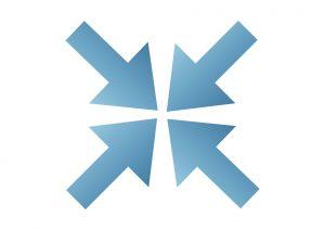Blue Arrow In